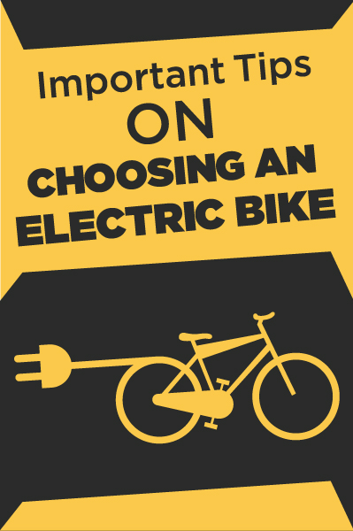 Important Tips On Choosing An Electric Bike banner